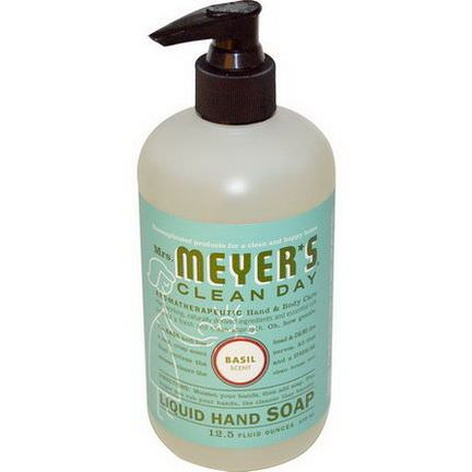 Mrs. Meyers Clean Day, Liquid Hand Soap, Basil Scent 370ml