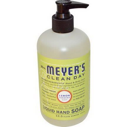 Mrs. Meyers Clean Day, Liquid Hand Soap, Lemon Verbena Scent 370ml