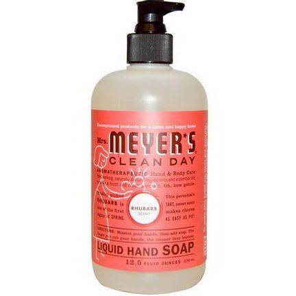 Mrs. Meyers Clean Day, Liquid Hand Soap, Rhubarb Scent 370ml