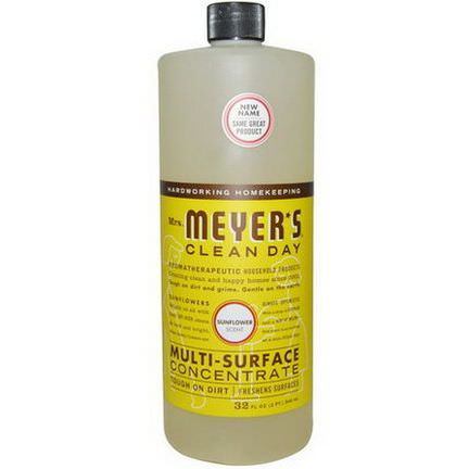 Mrs. Meyers Clean Day, Multi-Surface Concentrate, Sunflower Scent 946ml