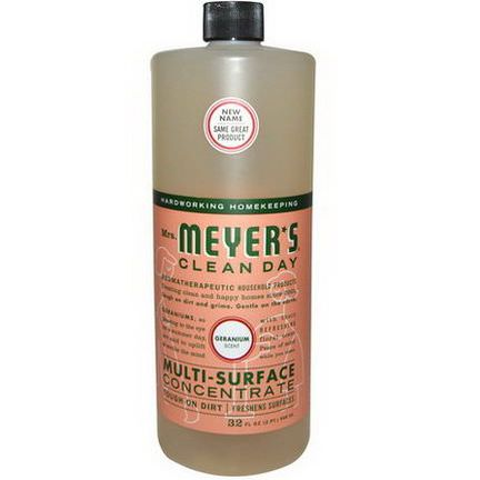 Mrs. Meyers Clean Day, Multi-Surface Concentrated Cleaner, Geranium 946ml
