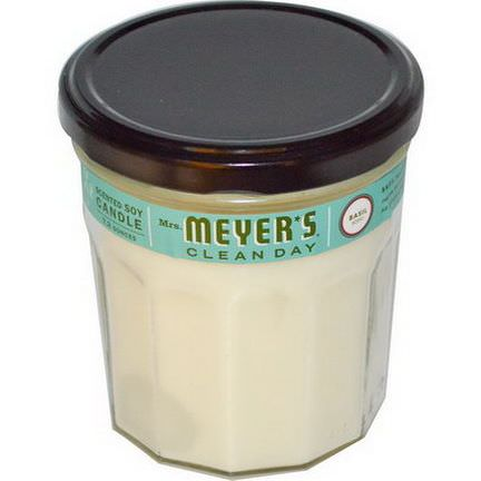 Mrs. Meyers Clean Day, Scented Soy Candle, Basil Scent, 7.2 oz