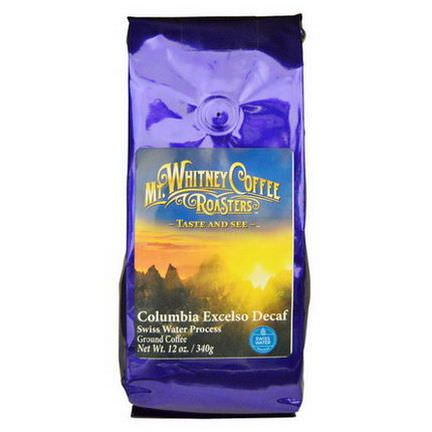Mt. Whitney Coffee Roasters, Columbia Excelso Decaf, Ground Coffee 340g