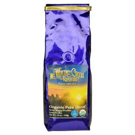 Mt. Whitney Coffee Roasters, Organic Peru Decaf, Ground Coffee 340g