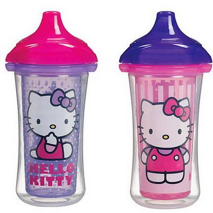 Munchkin, Hello Kitty, Insulated Sippy Cups, 2 Cups 266ml Each
