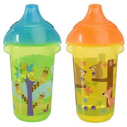 Munchkin, Insulated Sippy Cups, 2 Cups 266ml Each