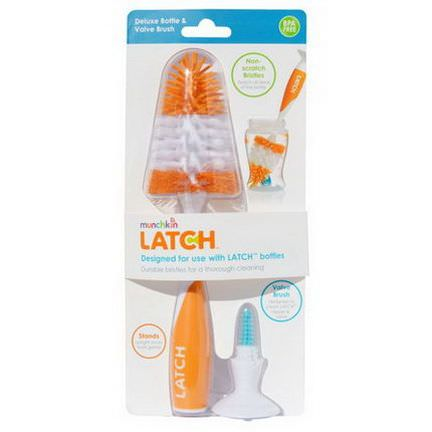 Munchkin, Latch, Deluxe Bottle&Valve Brush, 1 Brush