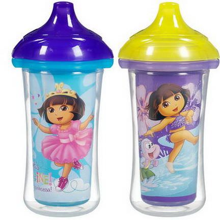 Munchkin, Nickelodeon, Dora the Explorer, Insulated Sippy Cups 266ml Each