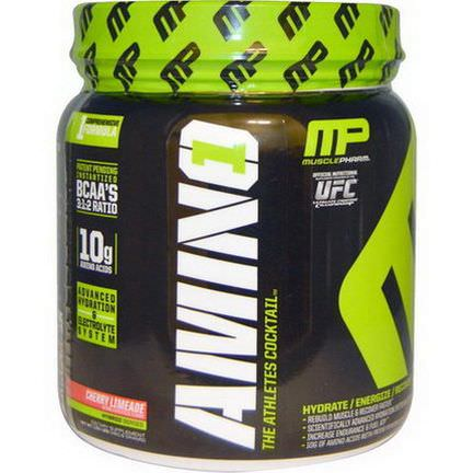 Muscle Pharm, Amino 1, Advanced Hydration&Electrolyte System, Cherry Limeade 460.8g