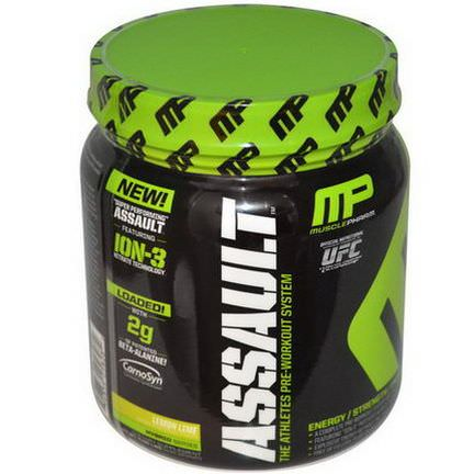 Muscle Pharm, Assault, Pre-Workout System, Lemon Lime 435g