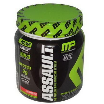 Muscle Pharm, Assault, Pre-Workout System, Watermelon 435g