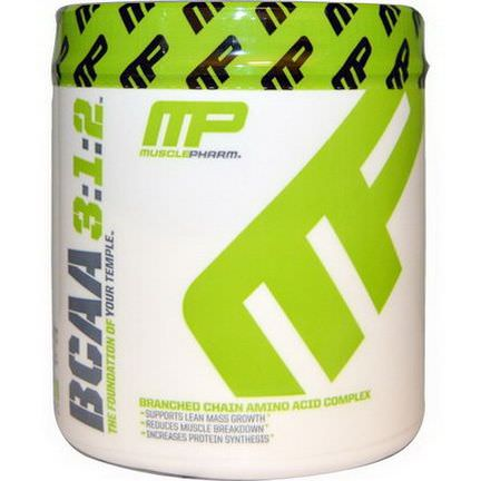 Muscle Pharm, BCAA 3:1:2, Unflavored Powder 180g