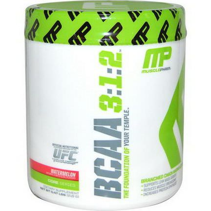 Muscle Pharm, BCAA 3:1:2, Watermelon 215g