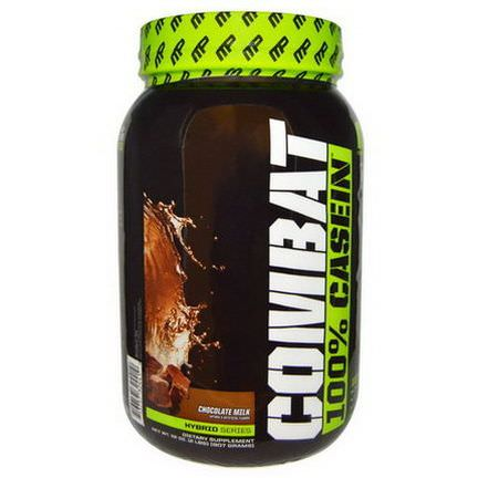 Muscle Pharm, Combat, 100% Casein, Chocolate Milk 907g