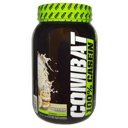 Muscle Pharm, Combat, 100% Casein, Cookies N Cream 907g