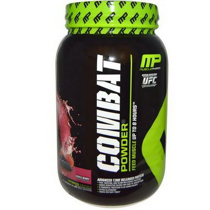 Muscle Pharm, Combat Powder, Advanced Time Released Protein, Triple Berry 907g