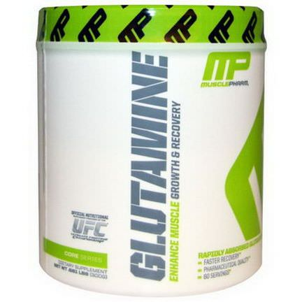 Muscle Pharm, Glutamine, Growth&Recovery, Core Series 300g