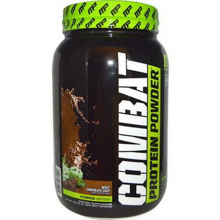 Muscle Pharm, Hybrid Series, Combat Protein Powder, Mint Chocolate Chip 907g