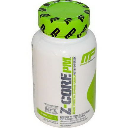 Muscle Pharm, Z-Core PM, Anabolic Mineral Support Formula, with Fenugreek, 60 Capsules