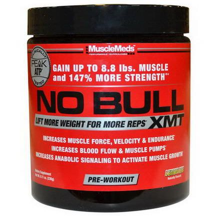 MuscleMeds, No Bull XMT, Pre-Workout, Lemon Ice 230g