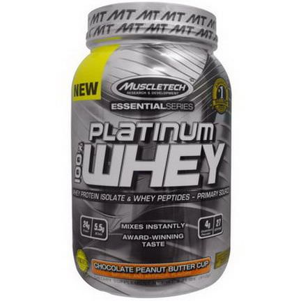 Muscletech, 100% Platinum Whey, Chocolate Peanut Butter Cup 910g