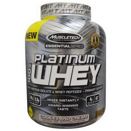Muscletech, 100% Platinum Whey, Cookies and Cream 2.27 kg