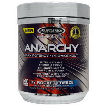 Muscletech, Anarchy, Pre-Workout, Icy Rocket Freeze 152g