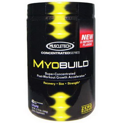 Muscletech, MyoBuild, Super-Concentrated Post-Workout Growth Accelerator, Grape 344g