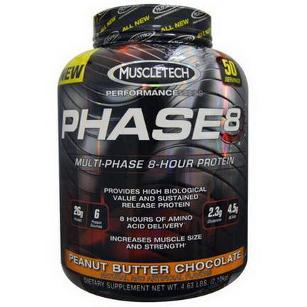 Muscletech, Phase8, Multi-Phase 8-Hour Protein, Peanut Butter Chocolate 2.10 kg
