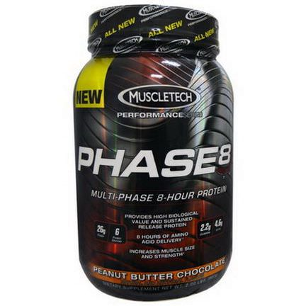 Muscletech, Phase8, Peanut Butter Chocolate 907g