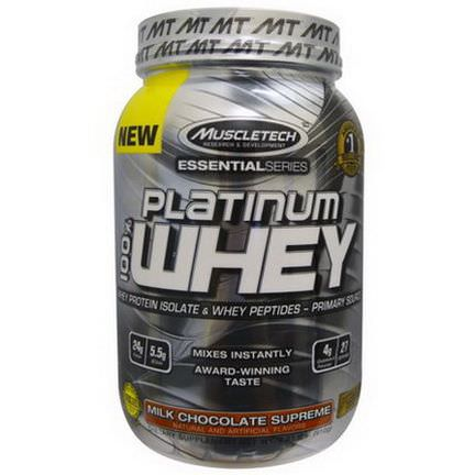 Muscletech, Platinum 100% Whey, Milk Chocolate Supreme 910g