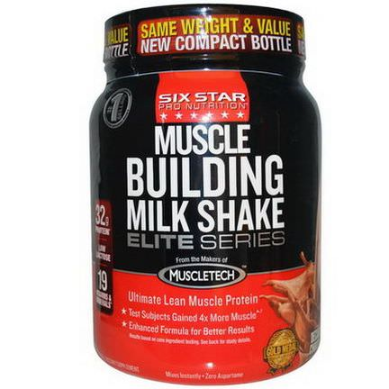 Muscletech, Six Star Pro Nutrition, Muscle Building Milk Shake, Decadent Chocolate 907g