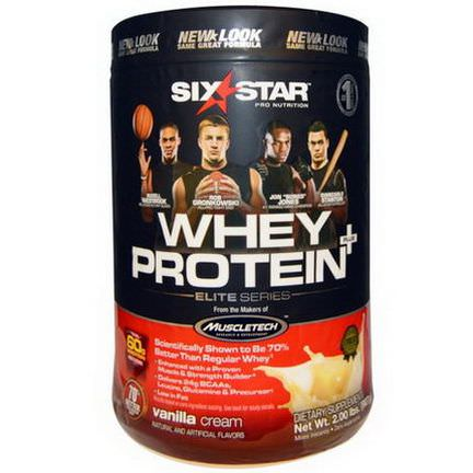 Muscletech, Six Star Pro Nutrition, Whey Protein +, Elite Series, Vanilla Cream 907g
