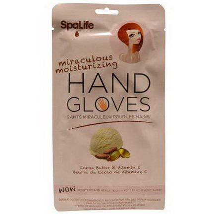 My Spa Life, Miraculous Moisturizing Hand Gloves, Cocoa Butter&Vitamin E, 1 Pair of Glove-Style Hand Masks
