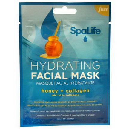 My Spa Life, SpaLife, Hydrating Facial Mask, Face, 1 Facial Mask 23g