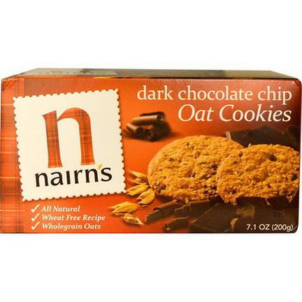 Nairn's Inc, Oat Cookies, Dark Chocolate Chip 200g