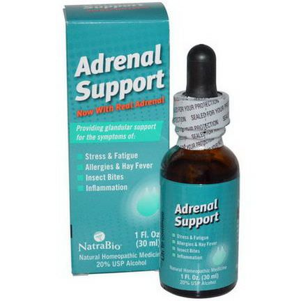 NatraBio, Adrenal Support 30ml