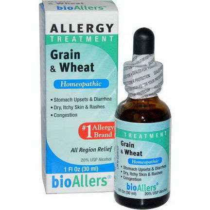 NatraBio, BioAllers, Grain&Wheat, Allergy Treatment 30ml