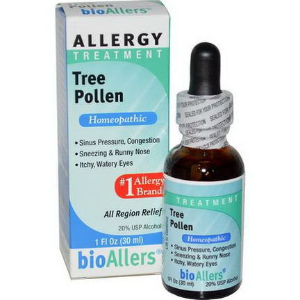 NatraBio, BioAllers, Tree Pollen, Allergy Treatment 30ml