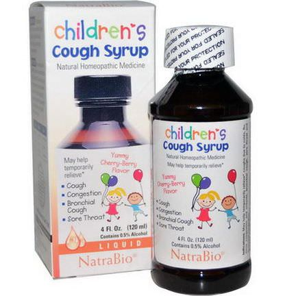 NatraBio, Children's Cough Syrup, Yummy Cherry-Berry Flavor 120ml