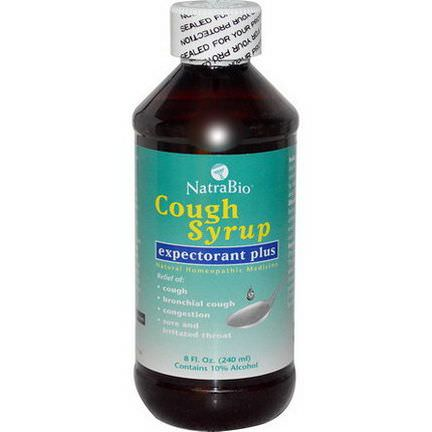 NatraBio, Cough Syrup, Expectorant Plus 240ml