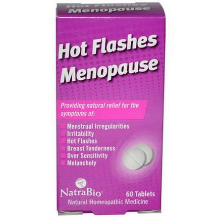 NatraBio, Hot Flashes Menopause, 60 Tablets