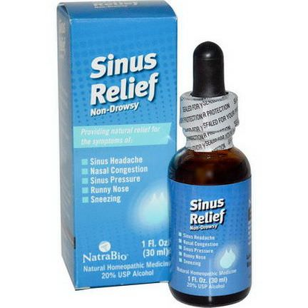 NatraBio, Sinus Relief, Non-Drowsy 30ml