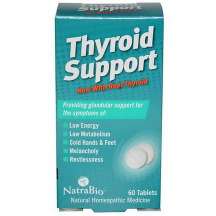 NatraBio, Thyroid Support, 60 Tablets