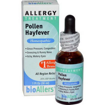 NatraBio, bioAllers, Allergy Treatment, Pollen Hayfever 30ml