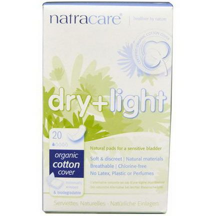 Natracare, Dry Light, Organic Cotton Cover, 20 Individually Wrapped Pads