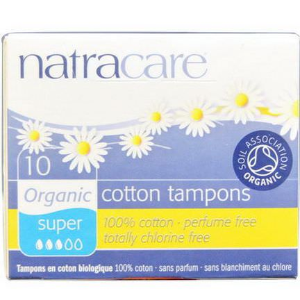 Natracare, Organic Cotton Tampons, Super, 10 Tampons