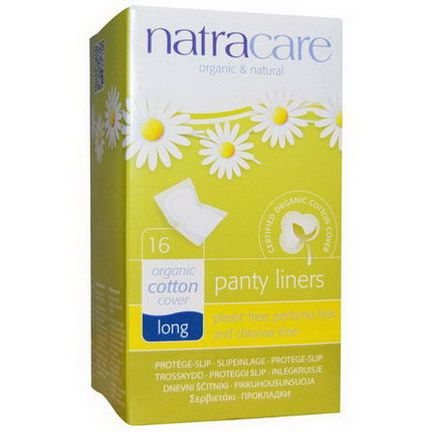 Natracare, Organic&Natural Panty Liners, Long, 16 Liners