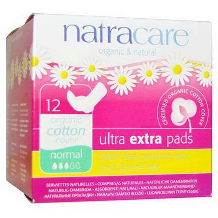 Natracare, Organic&Natural Ultra Extra Pads, Normal, 12 Pads