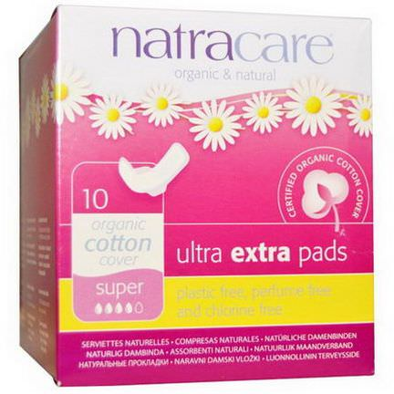 Natracare, Organic&Natural Ultra Extra Pads, Super, 10 Pads